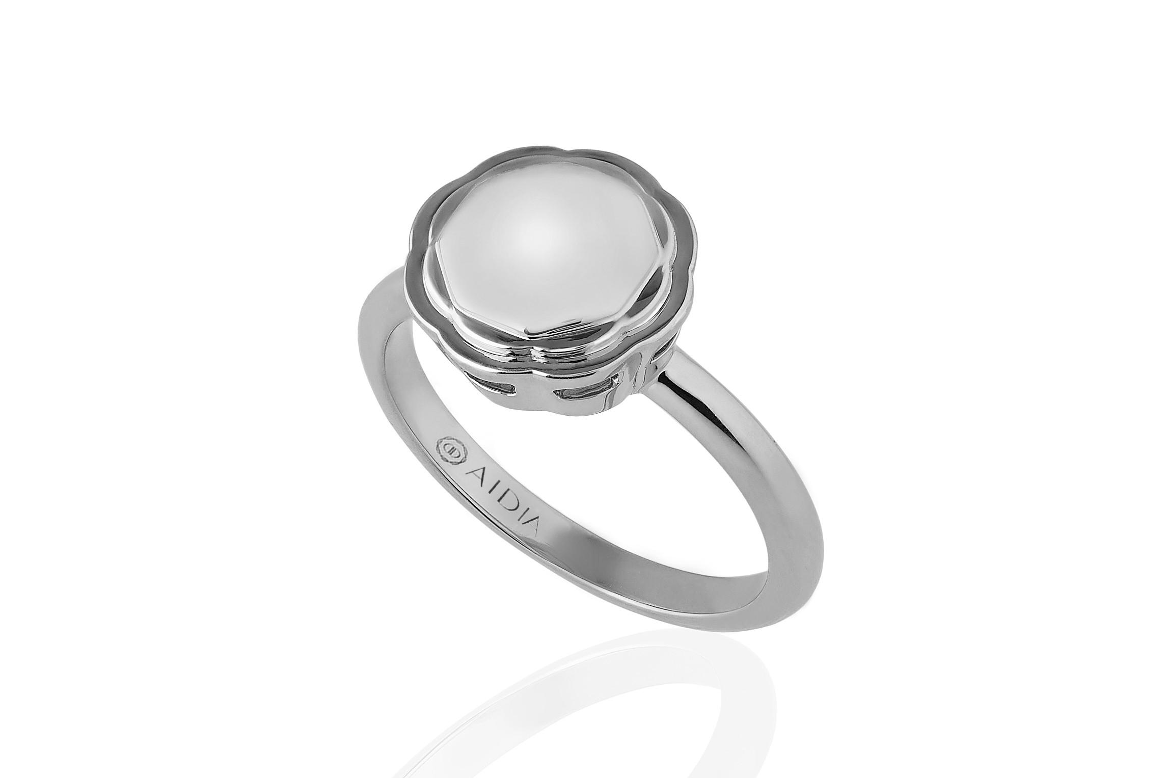 18K White Gold Flora Ring