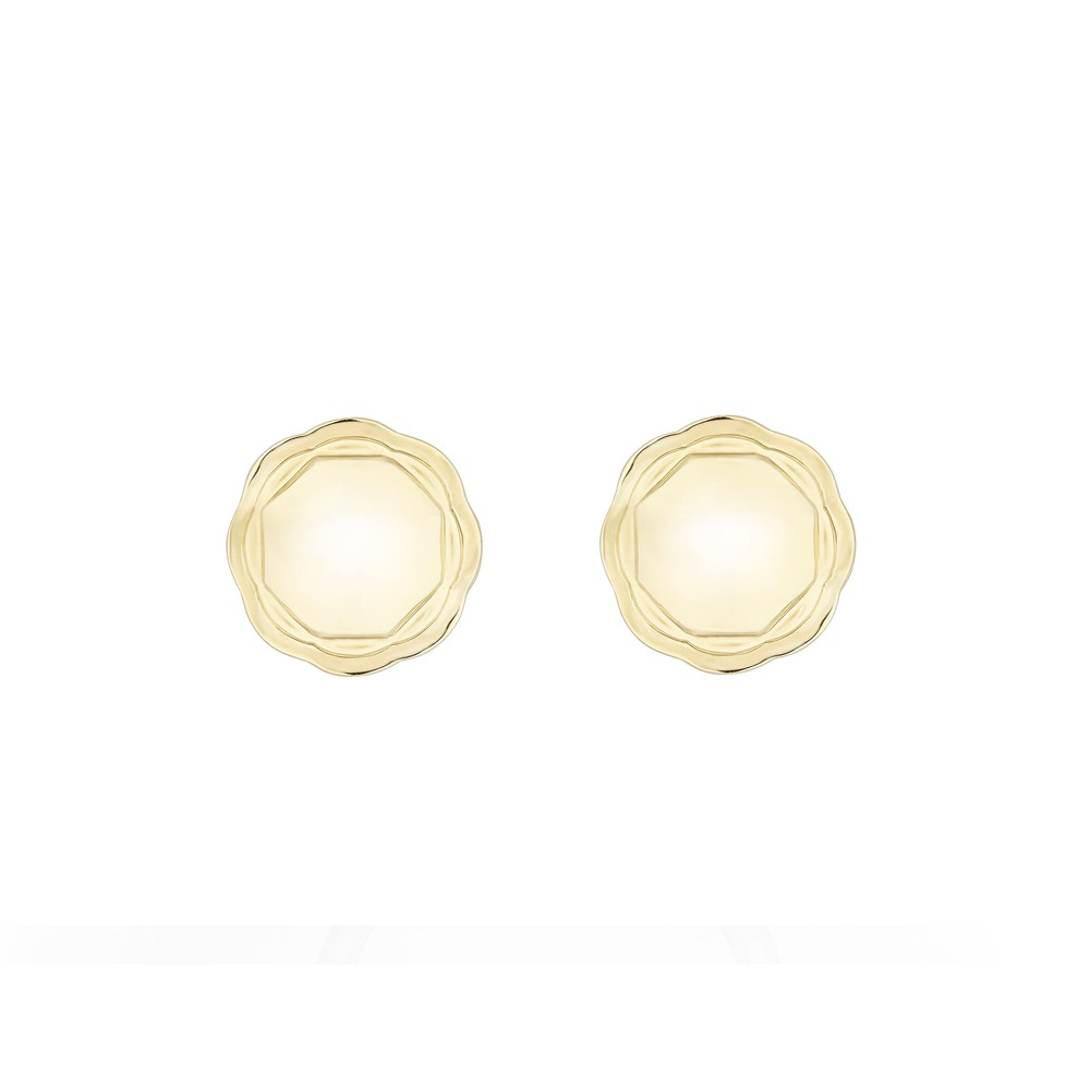 18K Yellow Gold Double Circle Flora Earrings