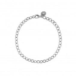 AIDIA Signature 7'' 18K White Gold Charm Bracelet