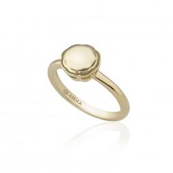 18K Yellow Gold Large Flora Ring