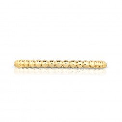 18K Yellow Gold Bead Link Ring