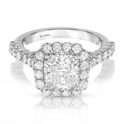 Alyssa's Cushion Cut Halo Lab-Grown Diamond Engagement Ring