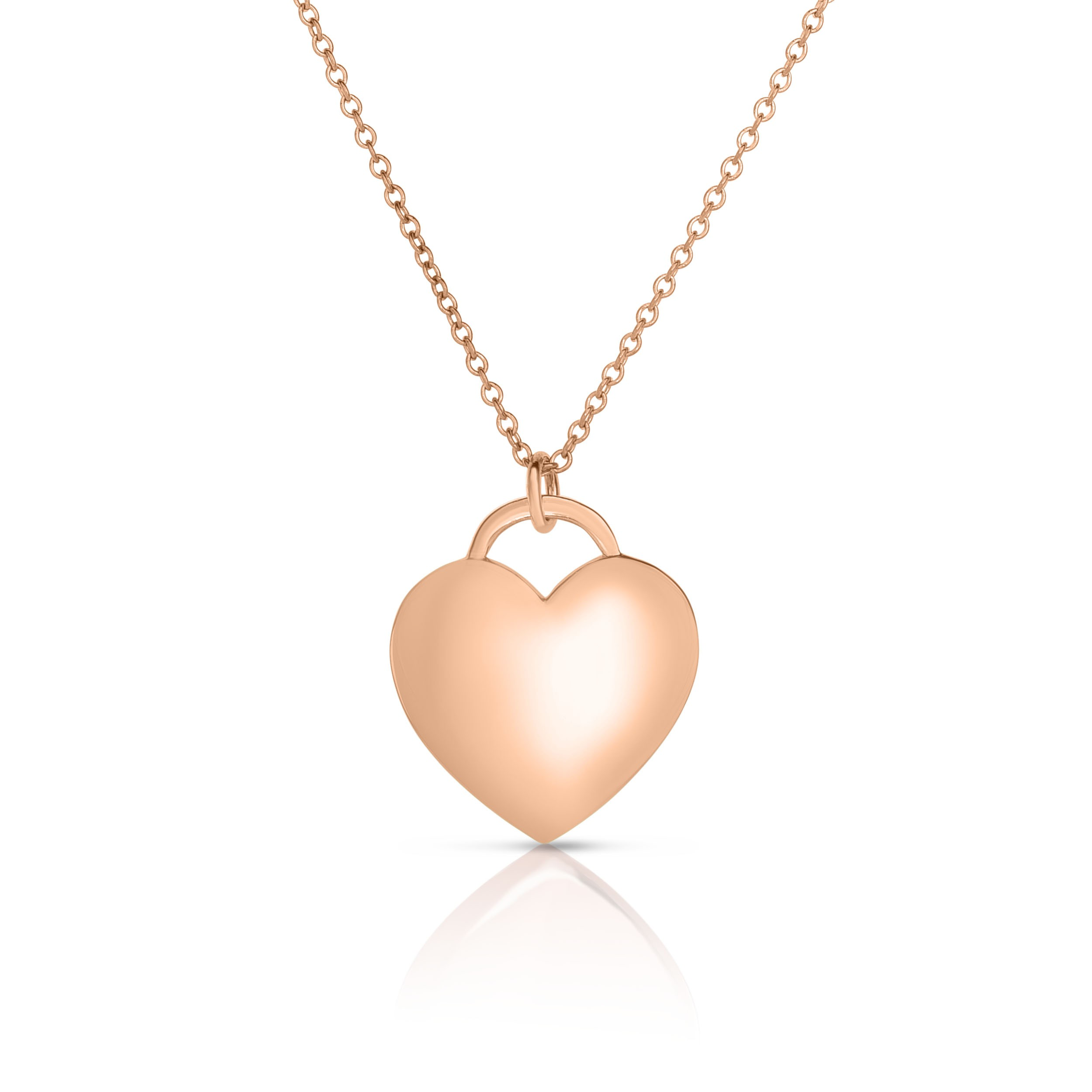 18K Rose Gold Love Bonds Pendant on AIDIA Extendable Link Chain