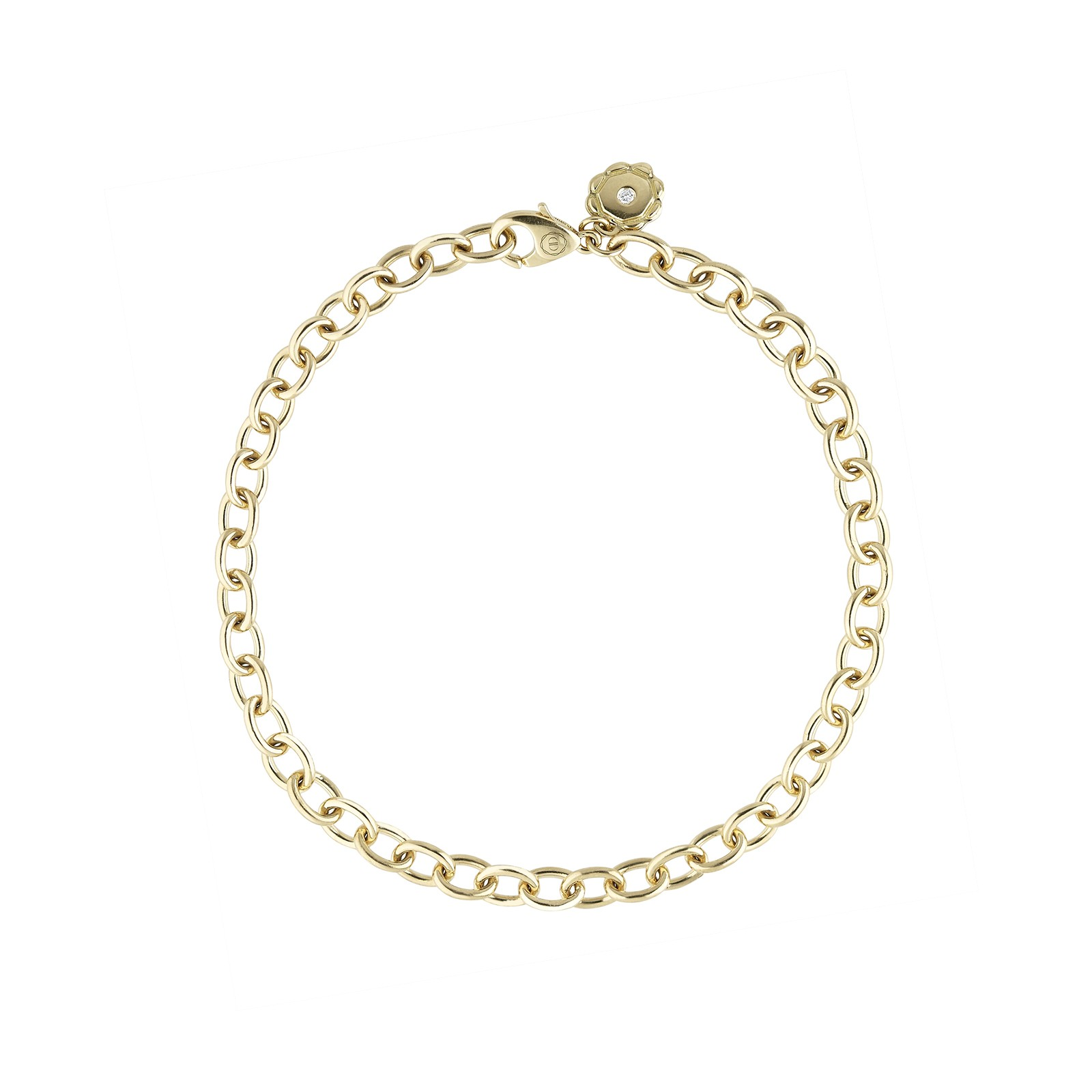AIDIA Signature 7'' 18K Yellow Gold Charm Bracelet