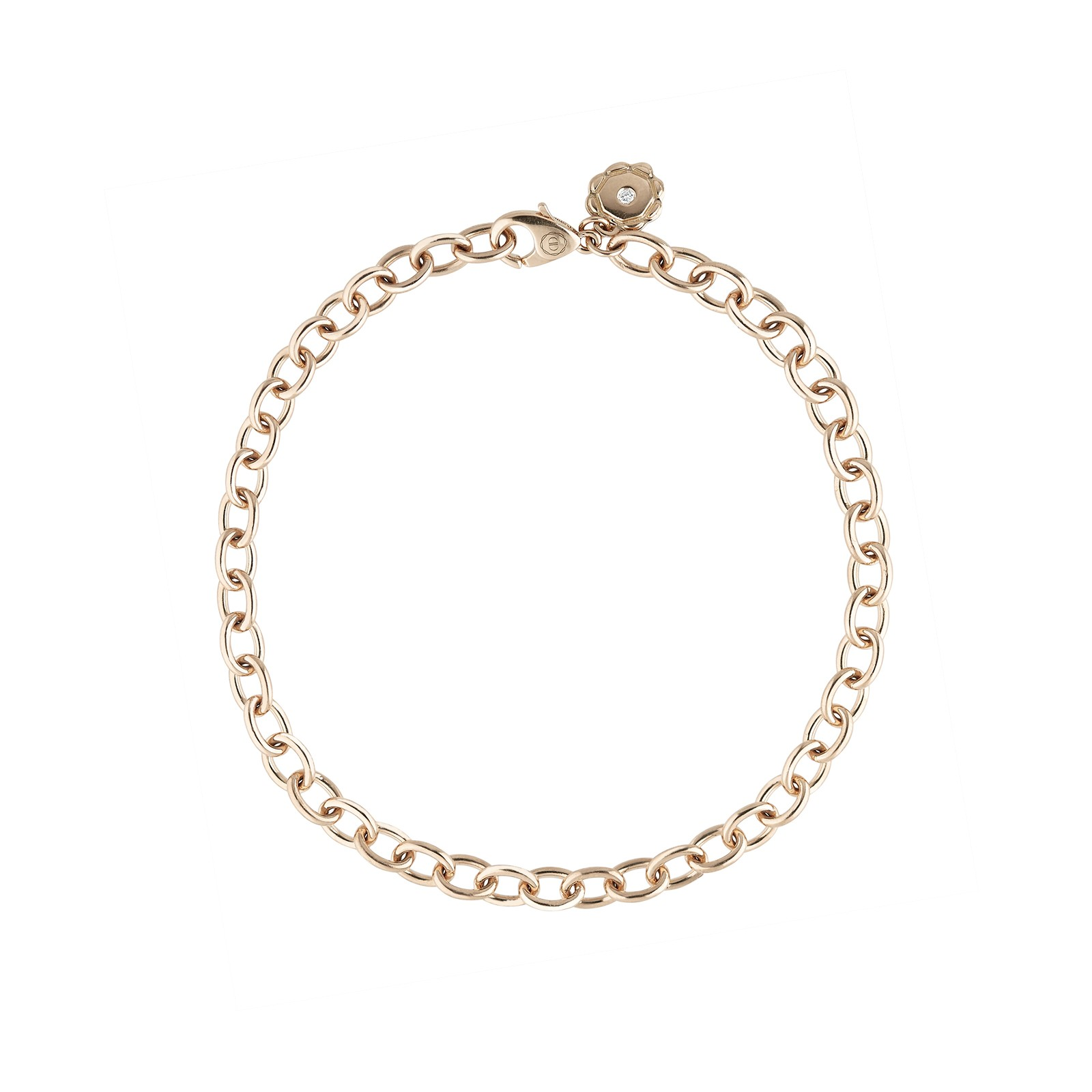 AIDIA Signature 7'' 18K Rose Gold Charm Bracelet