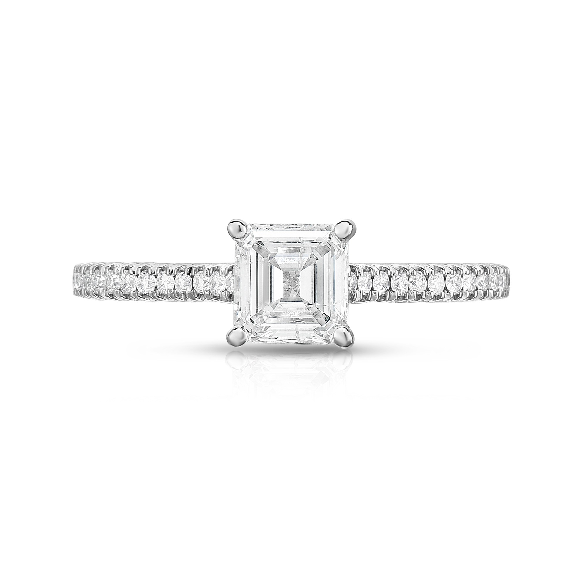 shoulders x into pave rings with cut in platinum asscher diamond setting jewellery set round brilliants e colour clarity a cubed and emerald gallery engagement