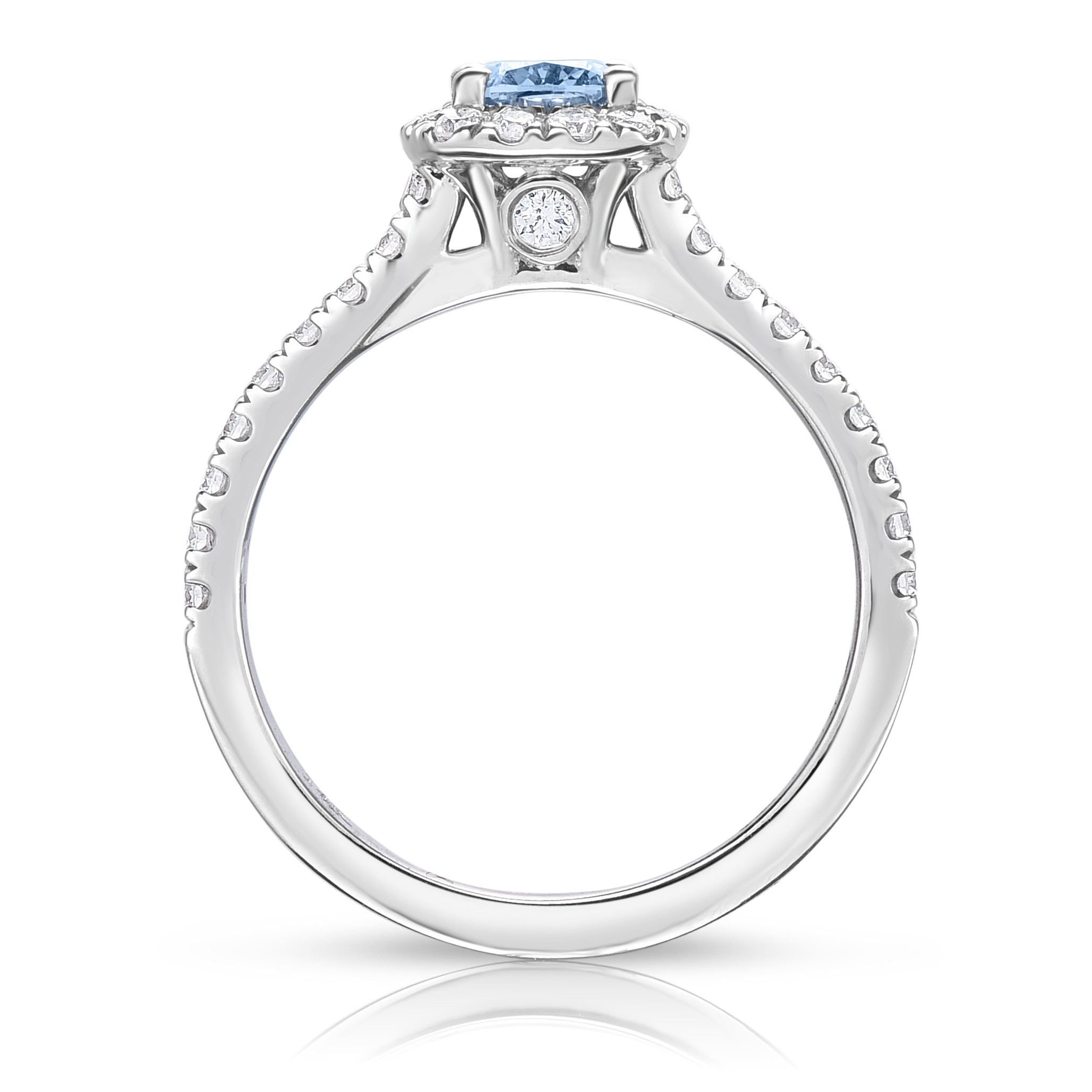synthetic diamonds ring proper engagement grown identification and profile diamond stack rings