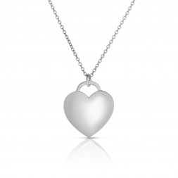 18K White Gold Love Bonds Pendant on AIDIA Extendable Link Chain