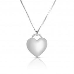 18K White Gold Love Bonds Pendant on AIDIA Extendable Link Chain