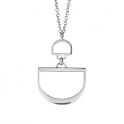 Monogram Double D Charm Holder Pendant on AIDIA Extendable Link Chain