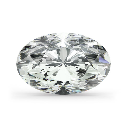 Oval 0.38 Ct. H VVS2