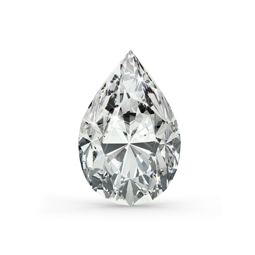 Pear 0.30 Ct. F VVS2